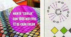 Patrones Crochet: Manta con 1008 motivos unidos