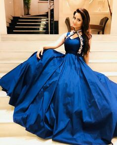 """""""Be Loyal To The Royal Within You """"! 👑 Styled by Outfit ❤️ 📸 😊 Designer Gowns, Indian Designer Wear, Evening Dresses, Prom Dresses, Bollywood Outfits, Party Kleidung, Indian Gowns Dresses, Beautiful Gowns, Beautiful Shoes"""