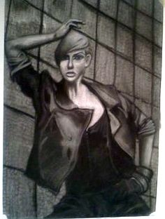 School Project done in charcoal of one of the Next Top Model contestants