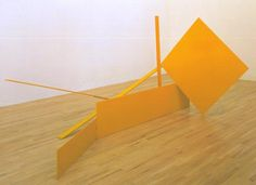 Sir Anthony Caro 'Yellow Swing', 1965 © The estate of Anthony Caro/Barford Sculptures Ltd Structure and Clarity: Room 11 Anthony Caro, Action Painting, David Hockney, Installation Art, Shapes, Sculpture, Artwork, Inspiration, Modernism