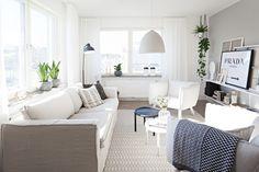 Pequeño apartamento muy luminoso con paredes resaltadas en gris | Decorar tu casa es facilisimo.com