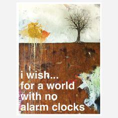 Alarm Clocks Print, $27, now featured on Fab.