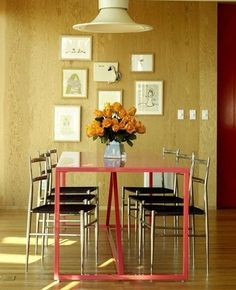 Coral table as a dining table