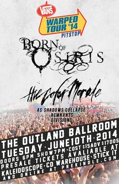 "June 10 @ Outland Ballroom [Springfield, MO] - Queen City Productions presents ""#WarpedPitStop2K14"" featuring Born Of Osiris 