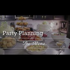 Party-Planning Menu Tips