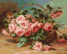 G547 Cesta de rosas