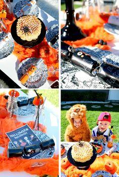 Kids Halloween party ideas. Halloween Kids Table. Tiny Little Pads: Kids Halloween in the USA www.tinylittlepads.com