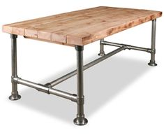 See more industrial pipe desks at…