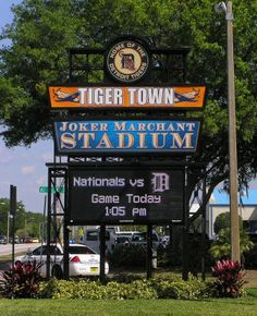 "Joker Marchant Stadium, ""Tiger Town,"" Lakeland, FL. Spring training home of the Detroit Tigers baseball team. In 2014, the Detroit Tigers began their 78th season in Lakeland. The longest on-going relationship between a Major League team and their Spring Training town."