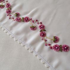GünayDin🌺🌺No mornings🌻🌻❤️ # dowry Ribbon Embroidery Tutorial, Hand Embroidery Dress, Embroidery Neck Designs, Hand Embroidery Videos, Creative Embroidery, Silk Ribbon Embroidery, Embroidery Stitches, Embroidery Patterns, Machine Embroidery