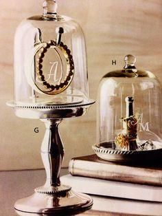 Glass jewelry cloche