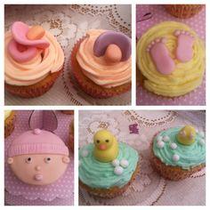 Girls baby shower cupcakes 2