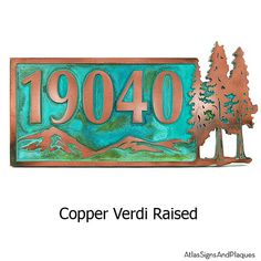 Pine Trees Up North Evergreen Cabin theme 20x10 inches Custom for you by Atlas Signs and Plaques