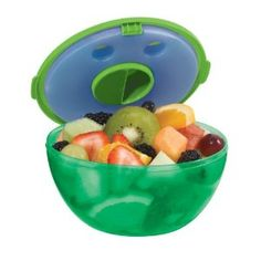 Fit & Fresh Kid's Fruit & Salad POD, Assorted Blue Red Green Or Purple, 2 1/2 Cups