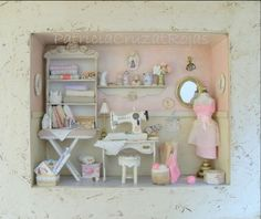 Sweet - Mini sewing room! :)