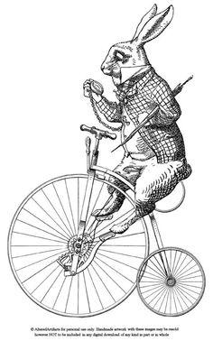 Vintage Tattoo Illustration Alice In Wonderland 16 Super Ideas Alice In Wonderland Rabbit, Alice Rabbit, Lapin Art, Images Vintage, Vintage Ephemera, Digital Stamps, Digital Papers, Digital Scrapbooking, Vintage Prints