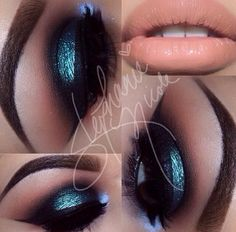 Foil blue smokey eye