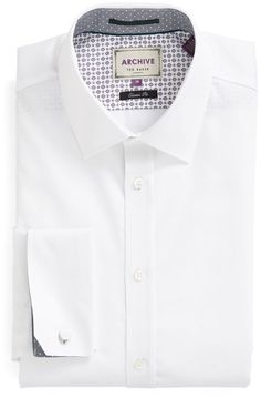 Men's Ted Baker London 'Beehive' Trim Fit Solid Dress Shirt Ted Baker, Shirt Dress, Beehive, Stylish, Fitness, Mens Tops, London, Fashion, Moda