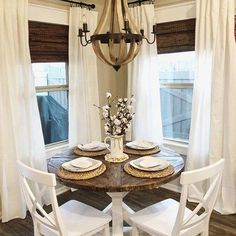 If you are building the nice rustic dining room design, there are some worthy tips that you need to highlight first. Dining Room Design, Dining Room Furniture, Dining Rooms, Dining Room Drapes, Deco Furniture, Patio Design, Luxury Furniture, Style Empire, Dining Room Inspiration