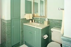 Want the green tile for the bathroom floor.