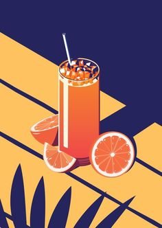 Summer Cocktail Series – Sunrise Art Print by Coen Pohl Art And Illustration, Illustration Inspiration, Cocktail Illustration, Graphic Design Illustration, Graphic Design Inspiration, Graphic Art Prints, Graphisches Design, Food Design, Design Ideas