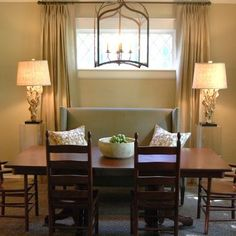 Couch and dining room table