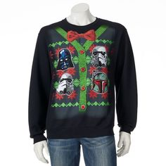 STAR WARS Darth Vader UGLY CHRISTMAS SWEATER SWEATSHIRT The Force Awakens FUNNY #StarWars #TheForceAwakens