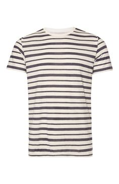 White And Grey Textured Stripe T-Shirt