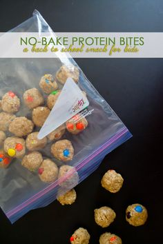 Easy No-Bake Protein Bites, a Back to School Snack for Kids Our Holly Days [ad] School Snacks For Kids, Healthy Snacks For Kids, School Snacks For Kindergarten, Fun Meals For Kids, Cheap School Lunches, Lunch Ideas For Kids, Cooking For Kids, Easy Desserts For Kids, Back To School Lunch Ideas