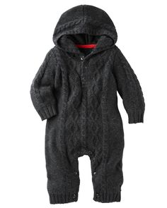 Hooded Cable-Knit Coveralls from Carters.com. Shop clothing & accessories…