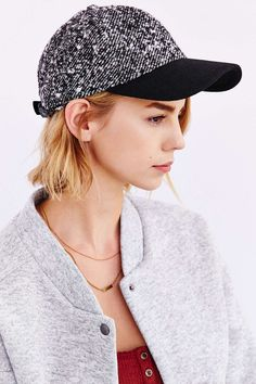 Wooly Colorblock Baseball Hat - Urban Outfitters