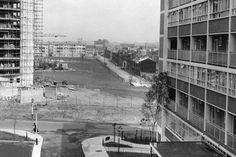 A view from the new Nechells Green Health Centre and lovely wide open spaces where once stood the back to back houses of Nechells, Birmingham, 8th September 1960.