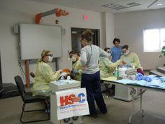 Tunxis Dental Hygiene Program and Lakota Tribe Service Learning/Mission Trip   Sealant application