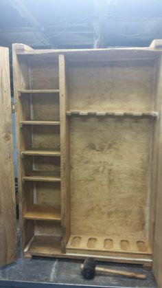 Custom pallet wood gun cabinet