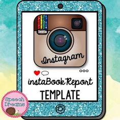 "This Instagram Book Report Template can be used for any book!  What fun way to write a book summary report and let your students pretend they are using Instagram at the same time!  They can color in the heart if they ""like"" the picture, then they can add their very own hashtags!"
