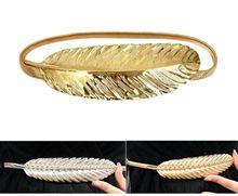 2015 marca de luxo mulheres ouro e prata cinto de fivela de Metal pena de cadeia…