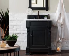 "26"" Brookfield Antique Black Single Bathroom Vanity – VANITIES EXPO"