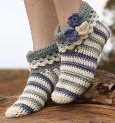 Crochet Slippers Free Pattern