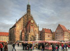 Nürnberg main square. I had the privilege of watching the astounding show as the clock struck noon in the merchant square.