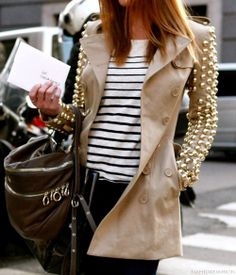burberry studded coat