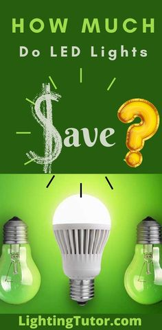 see how much you can save when converting from incandescent to LED bulbs #ledcalculator #ledlights #ledbulbs #ledsavings #howmuchdoLEDlightssave Direct Lighting, Types Of Lighting, Home Lighting, Lighting Ideas, Traditional Light Bulbs, Fluorescent Lamp, Light Emitting Diode, Kitchen Lighting Fixtures, Incandescent Light Bulb