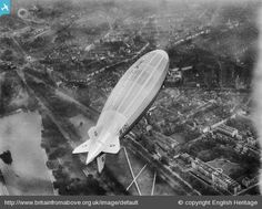 The R101 airship on its first test flight over Hyde Park, Westminster, 1929