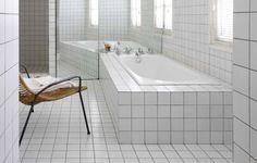Paris Loft Built-In Tiled Bathtub
