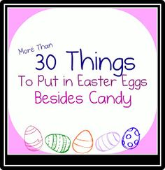 Family Volley: Easter Egg Hunts-More Than Just Candy-Lots of Ideas