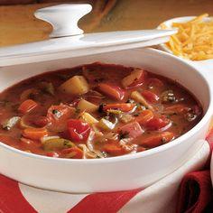Seventy Crock Pot Soup Recipes: Slow Cooker Soup, Seven Vegetable Soup - bystephanielynn Vegetable Soup Crock Pot, Veggie Soup, Crock Pot Soup, Slow Cooker Soup, Slow Cooker Recipes, Crockpot Recipes, Cooking Recipes, Herb Recipes, Chili Recipes