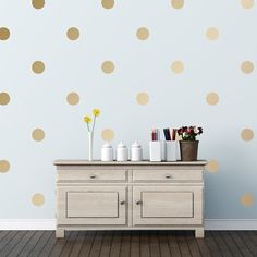 Gold polka dot decals $11.95