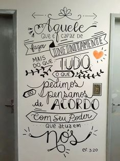 Wall drawing ideas inspiration home decor 35 Ideas for 2019 Lettering Tutorial, Room Wall Painting, Chalk Lettering, Wall Decor, Room Decor, Wall Drawing, Posca, Decoration, Chalkboard