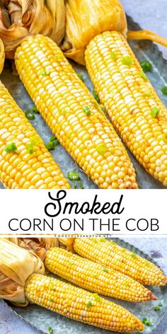 Buttery Smoked Corn on the Cob is easy to make and smoking adds so much flavor it turns a simple side dish into something simply delectable. Traeger Recipes, Smoked Meat Recipes, Grilling Recipes, Grilling Tips, Grill Meals, Picnic Recipes, Smoked Pork, Picnic Ideas, Picnic Foods
