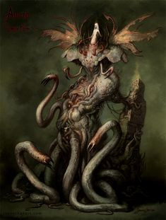 In R'Lyeh there is a pin-up of this demon queen - likely on Cthulhu's non-Euclidian bedroom wall