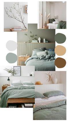 Room Design Bedroom, Room Ideas Bedroom, Home Room Design, Home Decor Bedroom, Home Interior Design, Living Room Decor, Sage Living Room, Bedroom Green, Bedroom Mint